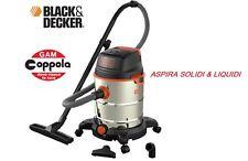 BIDONE ASPIRATUTTO SOLIDI E LIQUIDI BLACK & DECKER BX30XD 1600 WATT 30 LITRI