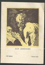Holy card  antique postale de San Jeronimo andachtsbil santino image pieuse