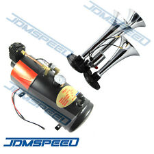 993-Trumpet Train Air Horn Kit 125 PSI Air System With 12V Air Compressor 150dB+