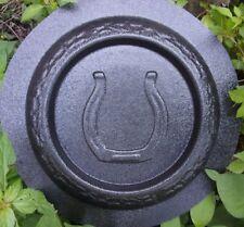 """Horse shoe birdbath mold concrete bird feeder mould 9"""" x 1"""" thick"""