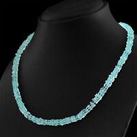Edelsteinkette Schwarz Aquamarin (Aquamarine) 50cm Collier Halskette 05 mm Perle