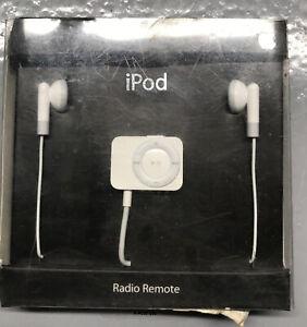 Apple iPod Genuine FM Tuner Radio Remote Control Headphones MA070G/A