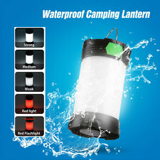 USB Rechargeable LED Camping Lamp Lantern Light Flashlight Hiking 26650 Portable