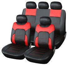 Coprisedili Universali Neri Ecopelle per Fiat 500 Panda Punto Alfa Audi Bmw ecc.