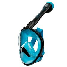 Seavenger Anti-Fog Full Face Snorkel Mask with 180° View (Blue)