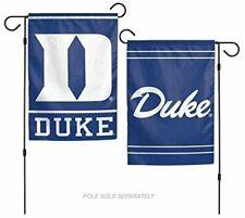 "Duke Blue Devils 2 SIDED GARDEN FLAG 12""X18"" Yard  BANNER OUTDOOR RATED"
