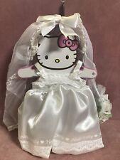 Hello Kitty Doll Wedding Dress , Veil & Bouquet