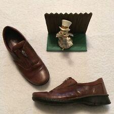 JOSEF SEIBEL Shoes European Comfort Brown Leather Zip Loafer 40 9-9.5 NICE