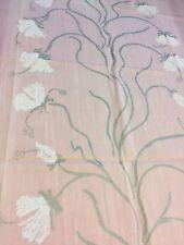 Curtain Sample Rem Fabric Hanger Blind Cushion Craft 68x82cm Cream Pink