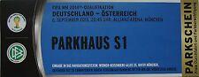mint TICKET Parkhaus 6.9.2013 Deutschland - Österreich in München