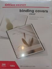 Office Depot Binding Covers A4 PVC 200 Microns Transparent x 100 Unopened
