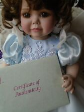 Marie Osmond Doll Toddler Ciarra  0338/1200 with Bracelet and papers large 20""