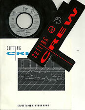 """Cutting Crew - (I just) died in your arms (1986) GERMANY 7"""" + Bonus Sticker"""