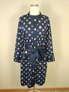 Almatrichi Polka Dot Shirt Dress 50 EU / 20 US Belted Button Front Madrid Spain