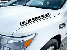 5.6 L Performance Hood Decals Vinyl Stickers x2 Truck Graphics, 5.6 Liter Engine