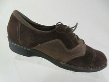 CLARKS Bendabales Brown Sz 10 M WOmen Suede Lace-Up Oxfords