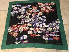 Gucci Spectacular Silk Charmeuse Scarf Poppies