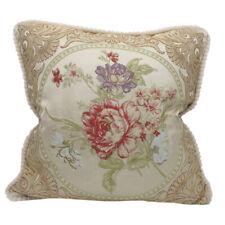 CURCYA Classic Pillow Cover European Floral Elegant Sofa Decorative Cushion Case