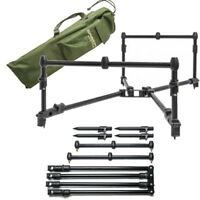 Saber Low Pro Rod Pod For 3 Rod Set Up With Carry Case Bag Carp Fishing