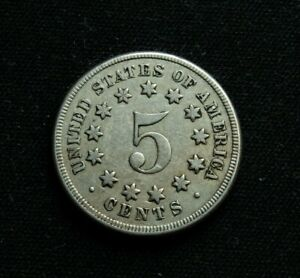 5 Cents 1867 Shield Nickel Coin United States Mint Philadelphia