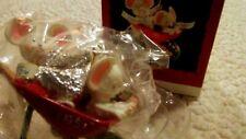 NEW Christmas HALLMARK KEEPSAKE ORNAMENT 1995 Delivery Kisses Mice 3 in.