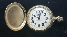Vintage Westclox Mechanical Wind Up Pocket Watch Train on the Dial working