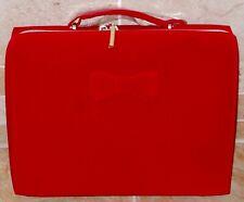 Stunning Estee Lauder Red Velvet Make Up / Travel Case