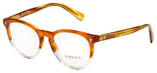 Versace Eyeglasses VE 3257 5266 51 Striped Havana / Crystal Frame [51-18-140]