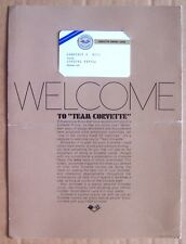 1969 CORVETTE OWNER WELCOME KIT ~ OWNER ID CARD ~ WELCOME LETTER ~ ORIGINAL