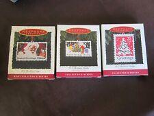 Hallmark Us Christmas Stamps Series Ornaments #1, #2, #3