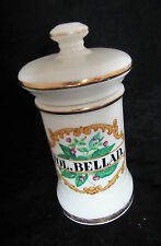 Fol. Bellad. Apothecary Jar With Lid