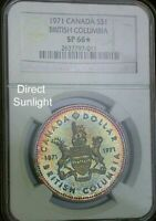 1971 Canada NGC SP66* Star Gem Colorful Toned Dollar