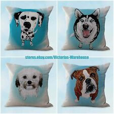 US SELLER- 4pcs cushion covers pet animal dog home accessories and decor