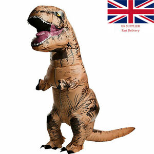 for Adult Kids T-REX Dinosaur Inflatable Costume Suit Outfit for Party Cosplay