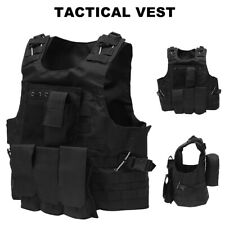 Tactical Military Vest Molle Combat Assault Plate Carrier for-Paintball-Airsoft