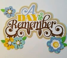 ADay To Remember Family Title  Handmade Paper Piecing Scrapbook Pages Premade
