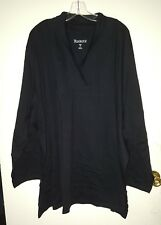 WOMENS PLUS SIZE 5X TOP NEW IN BAG ROAMANS  TUNIC   BLACK