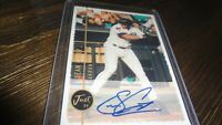 JUST '99 SEAN CASEY   AUTOGRAPHED BASEBALL CARD