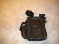 New Mens Black Leather Pocket Belt Loops Mini Waist Bag Pouch Wallet Purse