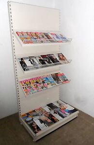 Zeitungsregal 1m Zeitschriftenregale weiss 9001 Regal Zeitung Tego/Vendox/Eden