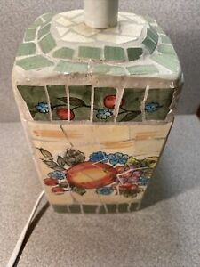 Vintage Mosaic Lamp Fruit Style