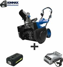 Snow Joe iON21SB-PRO 21-Inch 40 Volt 5 Ah Cordless Single Stage Snow Blower, Kit