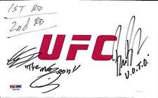 Lorenz Larkin Bruce Buffer Signed Used UFC Fight Night 70 v Ponzinibbio Card PSA