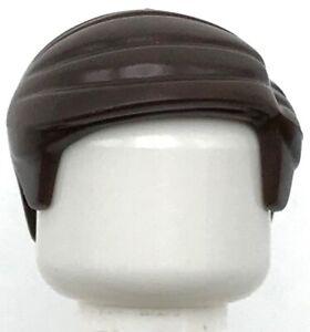 Lego New Dark Brown Minifigure Hair Short Combed Sideways Part Left Wig