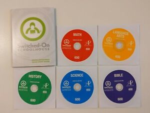 Switched on Schoolhouse 6th Grade CD Set! Windows 10! SOS