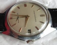 Jaeger LeCoultre Automatic Bumper mens wristwatch Steel Case 35 mm. in diameter