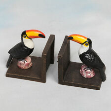Cast Iron Antiqued Pair of Toucan Bookends 15 x 12 x 10 cm each