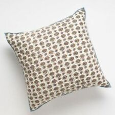 """Chaps JULIETTE 18"""" Square Ivory Cream Blue Red Yellow Floral Decorative Pillow"""