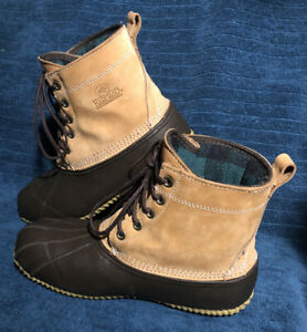 Red Head Women's Size 9W Leather Insulated Rain Duck 7 In. Boots