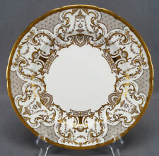 Royal Crown Derby Gold Encrusted Floral Scrolls & Urns Beaded Dinner Plate 1911